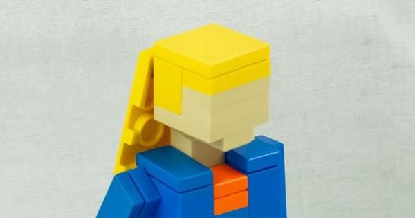 une stagiaire cr u00e9e un cv avec des lego