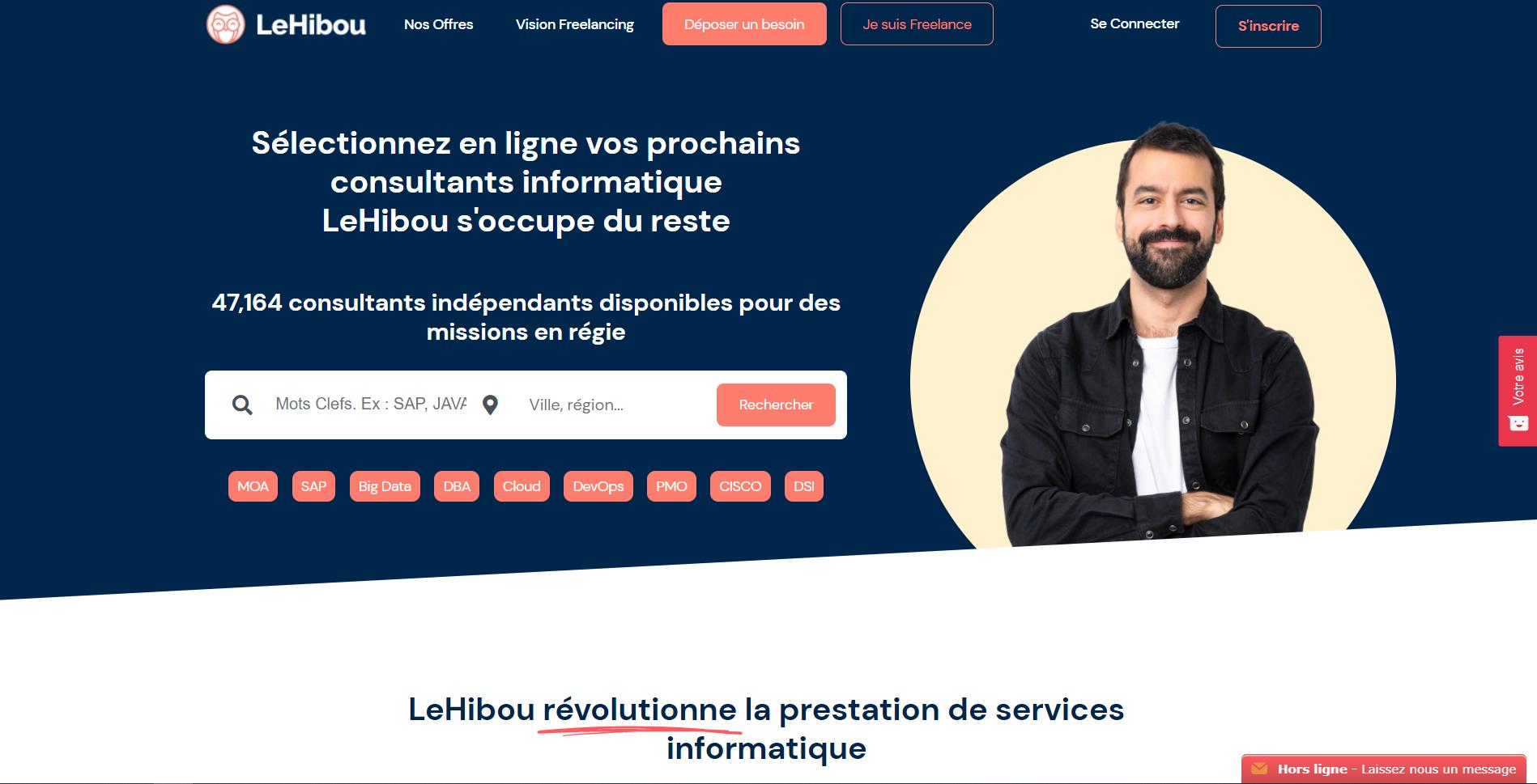 Lehibou.com, plateforme pour freelances