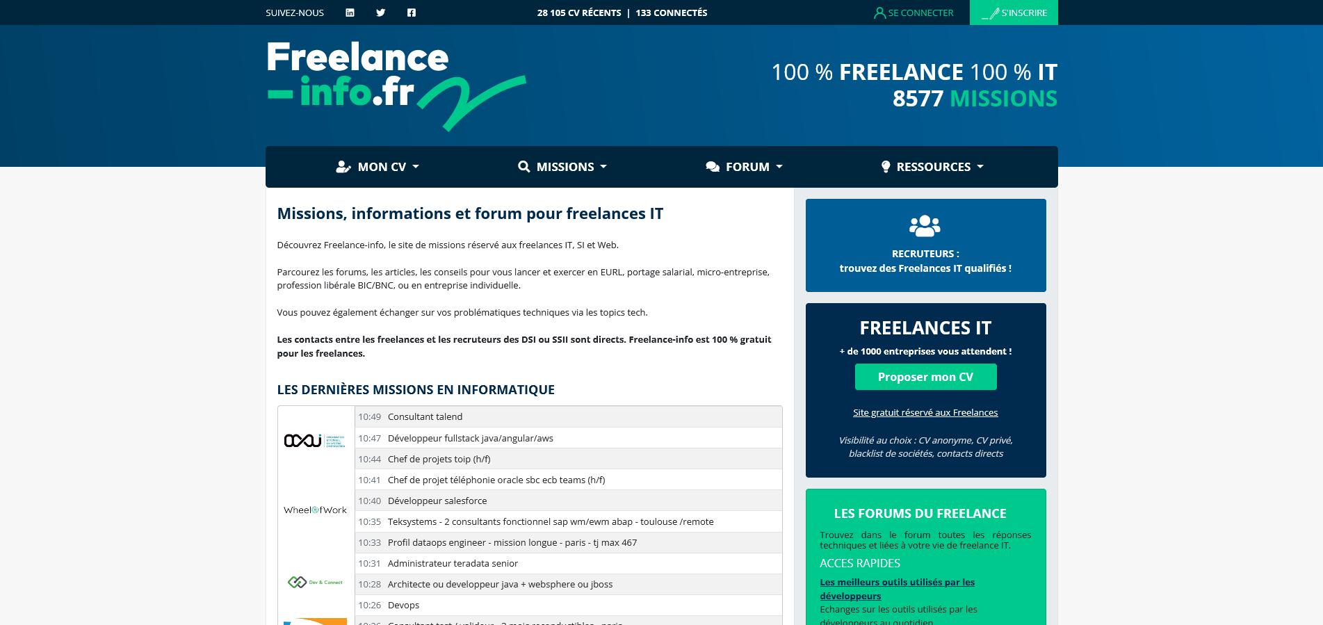 Freelance-info, offres de missions IT