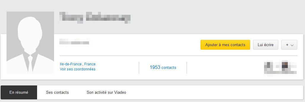 Sur ce profil Viadeo, la photo n'apparait pas. Pourtant, le profil ce recruteur est intéressant!