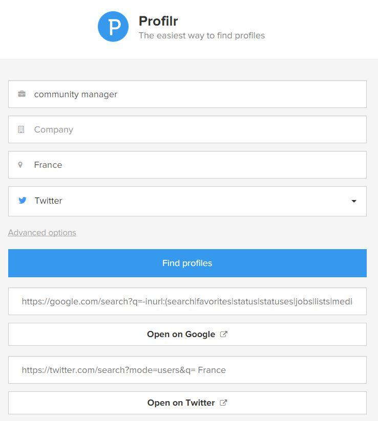 Trouver un community manager avec Profilr