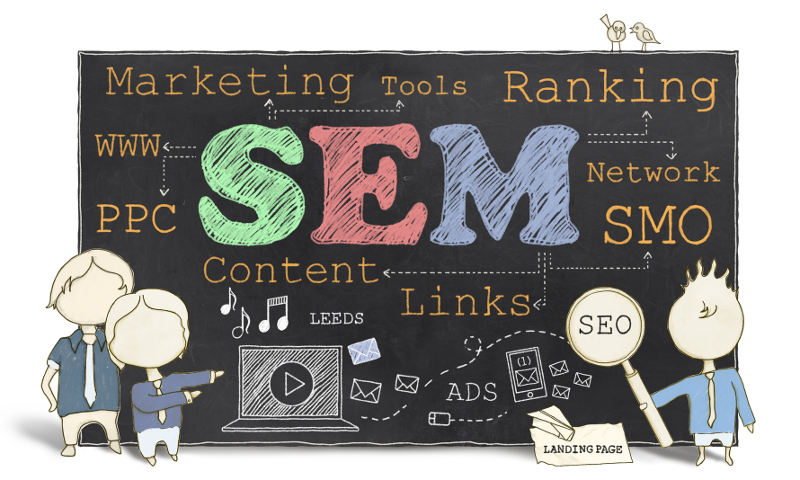 SEM (Search Engine Marketing) illustration