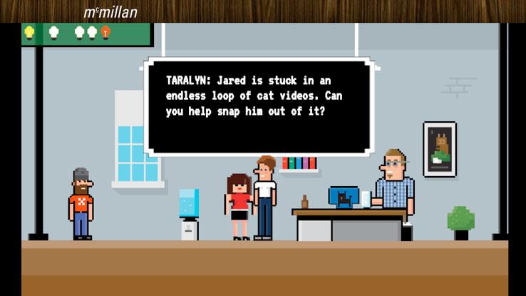 Serious game imaginé par l'agence McMillian